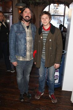 dave grohl & michael cera // too much good in one photo
