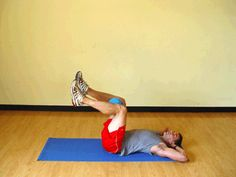 Today's Exercise: Double Crunches with Medicine Ball