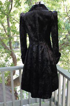 Victorian Era Black Velvet Coat | eBay