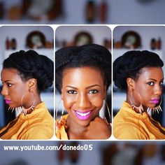 Double #FishtailBraid #Updo www.youtube.com/donedo05 (at www.youtube.com/donedo05)