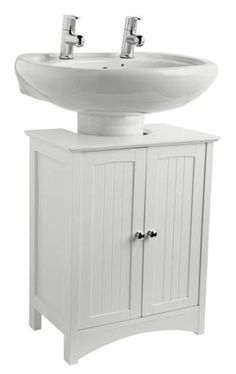 Under Basin Sink Storage Unit White