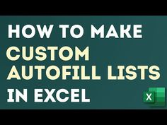Create Custom Autofill Lists a.a AutoFill Series in Excel Super Easily Microsoft Excel, Microsoft Office, List Of Months, Excel Dashboard Templates, Data Validation, Excel Hacks, Pivot Table, Gantt Chart, Live And Learn