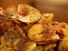 Fingerling Potato Chips recipe from Aaron McCargo Jr. via Food Network