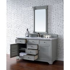 Savannah Urban Grey 60-inch Single Vanity Cabinet - Free Shipping Today - Overstock.com - 18725450 - Mobile