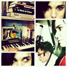 Studio session @ home dans ma bulle... W/ Karim Medgebeur#me#melissa#mars#melissamars#home#studio#musique#music#session#recherche#maquette#producing#synthé#korg#R3#micro#shure#roswellite#ribbon#lovemachine#vynil#45tours#julienclerc#souvenir#mybooks#bulle#happy#lifeisbeautiful#lifeismusic