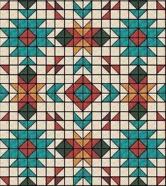 Star Quilt Blocks, Strip Quilts, Quilting Projects, Quilting Designs, Southwestern Quilts, Zentangle, Indian Quilt, Half Square Triangle Quilts, Barn Quilt Patterns