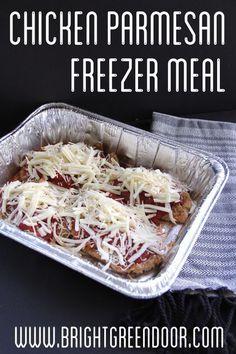 Restaurant Style Chicken Parmesan Freezer Meal Recipe via Bright Green Door