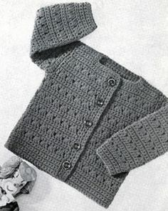 Girls Crocheted Cardigan pattern from Lacey's Speed Knits for Tiny Tots, originally published by T.M. Lacey, Volume 31.