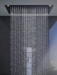 shower by philippe starck This is so much, by God . this is a shower . - shower by philippe starck this is so much and by God . this is a shower for the family and the nei - Bathroom Shower Heads, Bathroom Ideas, Master Bathroom, Rain Shower Heads, Shower Walls, Shower Seat, Beige Bathroom, Bathroom Photos, Glass Shower