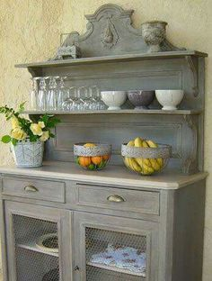 Painted buffet. Love the layers.
