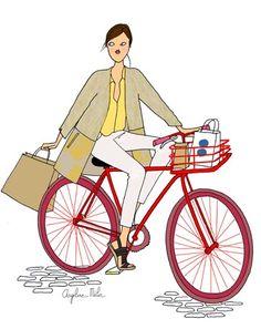 Stylée en vélo