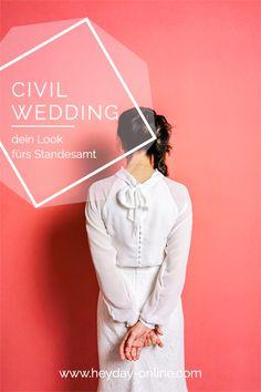 Finde deinen individuelles zweiteiliges Brautkleid für deine standesamtliche Hochzeit. Chiffon, Boho Stil, Civil Wedding, Elegant, Civilization, Fur, Outfits, Two Piece Outfit, Mandarin Collar