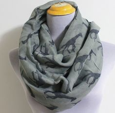 Hey, I found this really awesome Etsy listing at https://www.etsy.com/listing/160464614/gray-giraffe-infinity-scarf-cute-giraffe