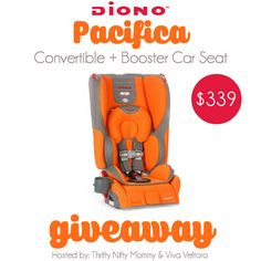 Win a Diono Pacifica Convertible + Booster Car Seat in this giveaway!