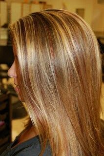 Brown Hair with Highlights & lowlights   Light Brown Hair w/blonde highlights and red lowlights