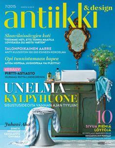 Antiikki & Design 7/2015 kansi. Photo Kristiina Hemminki/Fotonokka. Styling Irene Wichmann.
