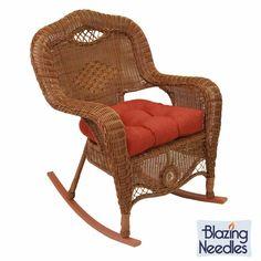 Blazing Needles All-weather U-shaped Outdoor Rocker Chair Cushion