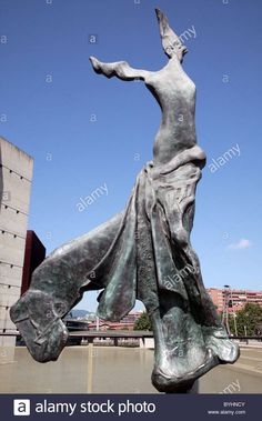 """Terpsichore: ''Muse of the Dance"""" a bronze sculpture by Salvadore Dali made in 1971. Stock Photo"""