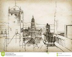 графика городской пейзаж архитектура - Поиск в Google