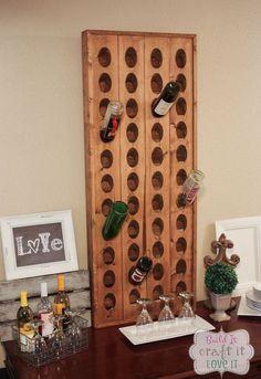 diy wine riddling rack, how to, storage ideas, wall decor
