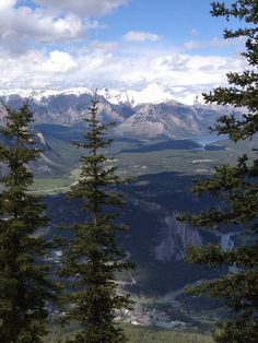Looking across the valley above Banff. Exquisite view!