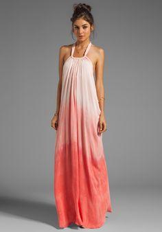 SEN Marlena Dress in Salmon Dip Dye - Maxi