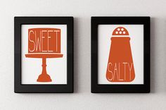 Sweet & Salty 11x17 Typography Home Decor by folsomstudios on Etsy, $37.00