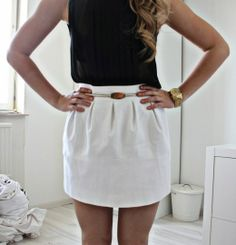 WHITE AND BLACK OUTFIT