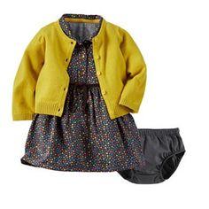 Carter's Baby Girl Dress & Cardigan Set