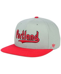 promo code 73831 6d33f  47 Brand Portland Trail Blazers Sure Shot Snapback Cap   Reviews - Sports  Fan Shop By Lids - Men - Macy s
