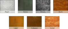 Metallic Epoxy Sealer Color Chart. Compelling Stuff! Check out the details at http://www.directcolors.com/product/dci-100-epoxy-countertop-sealer/