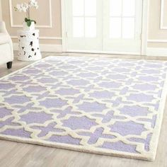Safavieh Cambridge Liz Hand-Tufted Wool Area Rug, Silver