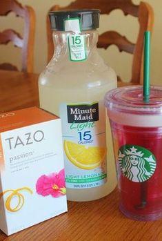 How to make your own Starbucks passion fruit lemonade!!!!!