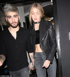 Gigi Hadid holds hands with Zayn Malik after date 'confirming they are an item' | Daily Mail Online