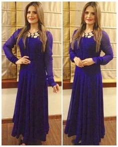 Get this zarin khan fame georgette gown for just 1000 INR Ethnic Gown, Indian Ethnic Wear, Salwar Dress, Anarkali, Bollywood Female Actors, Indian Fashion Trends, Indian Celebrities, Celebrity Outfits, Designer Gowns