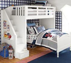 Catalina Stair Loft Bed & Lower Bed Set   Pottery Barn Kids