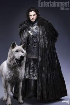 Ghost and Jon Snow aka Lord Snow