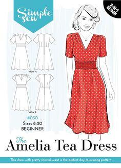 Deze jurk gemakkelijk te maken is de perfect patroon van het dag-tot-avond met een keuze uit twee lengtes van fluttery mouw. Het deelvenster shirred taille betekent krijgen een geweldige pasvorm is nog makkelijker! Amelia ziet er geweldig voor een zonnige dag uit in een mooie Tana