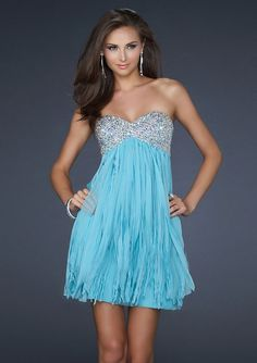 A-line Chiffon Sweetheart Empire Short/Mini Length Low Back Sleeveless Crystal Cocktail Dress