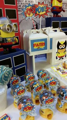 Despicable Me Minion birthday party favors! See more party planning ideas at CatchMyParty.com!