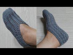 코바늘 덧신뜨기(간단한 무늬뜨기) - YouTube