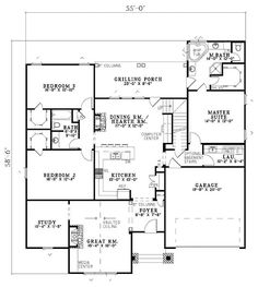 Tudor House Plan chp-29740 at COOLhouseplans.com
