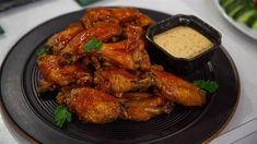Baked Barbecue Buffalo Wings with Alabama White Sauce ( Matt Abdoo ) Football Finger Foods, Football Food, Baked Chicken Wings, Chicken Wing Recipes, Chicken Breasts, Alabama White Sauce, White Sauce Recipes, Barbecue Chicken, Barbecue Sauce