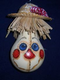 Shaggy the Scarecrow by littleDebbis on Etsy, $10.00 hand painted light bulb