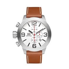 Danish Design // IQ12Q91 - This generously proportioned men's timepiece by Danish Design is true to those formerly worn by marines. The markers are oversized for readability, and the crown and pushers are on the left to prevent digging into your wrist. This indomitable watch boasts water resistance down to 100 meters and chronograph functionality. $180 !!
