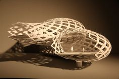 Double-Curved Paper Models - Double-layer Diagrid Unfold Method