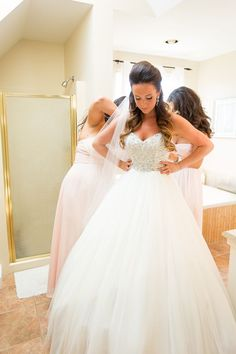 Princess wedding dresses like this can be custom made to your taste, style and personality.  Get info on custom #weddingdresses & replica dress designs when you visit our main website.