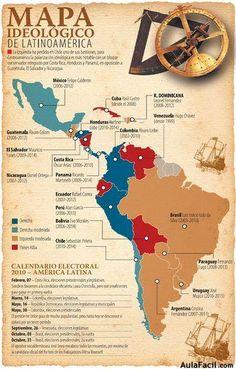 mapa2 infografia Ap Spanish, Spanish Lessons, Learning Spanish, Latin America, South America, Latin Wedding, History Posters, History For Kids, Hispanic Heritage