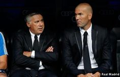 Ancelotti y Zidane Real Madrid, Carlo Ancelotti, Bernabeu, Dream Team, Most Beautiful, Legends, Iker Casillas, Football Pics, Champs