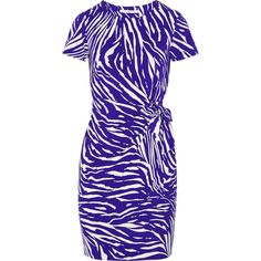 Diane von Furstenberg Zoe printed stretch-jersey dress (6,445 THB) ❤ liked on Polyvore featuring dresses, blue, stretchy dresses, diane von furstenberg, blue jersey dress, blue dress and stretch dress